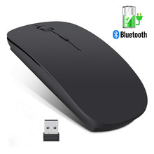 Mouse Nirkabel Komputer Mouse Bluetooth Diam PC Mause Isi Ulang Ergonomis Mouse 2.4 GHz USB Mouse Optik untuk Laptop PC(China)
