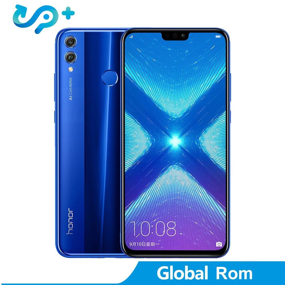 Original Huawei Honor 8X Smartphone 1080 P 6.5 pouces écran Global ROM LTE Android 8.1 3750 mAh batterie 20MP caméra 1.5 GHz