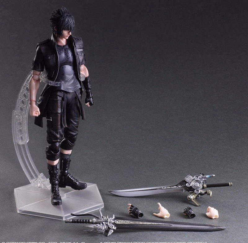 <font><b>Final</b></font> <font><b>Fantasy</b></font> Action <font><b>Figure</b></font> Play Arts Kai Noctis Lucis Caelum <font><b>Figure</b></font> Toy PLAY ARTS <font><b>Final</b></font> <font><b>Fantasy</b></font> <font><b>XV</b></font> Noctis Lucis Playarts PA02 image