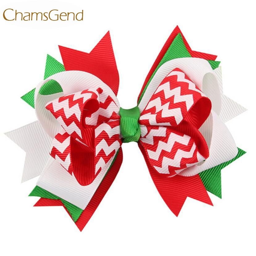 Newly Design Big Bow Hairpins Green Hair Accessories For Christmas Sep7 Drop Shipping