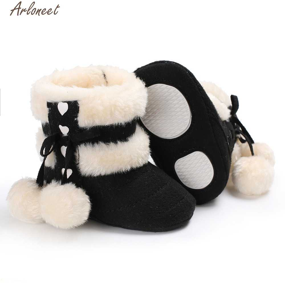 ARLONEET Baby Girl Boy Soft Booties Snow Boots Infant Toddler Newborn Warming Shoes Meisje Jan15