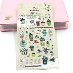 Stationery Sticker Papeleria Decorate Pot Fragrance Three-Dimensional Children