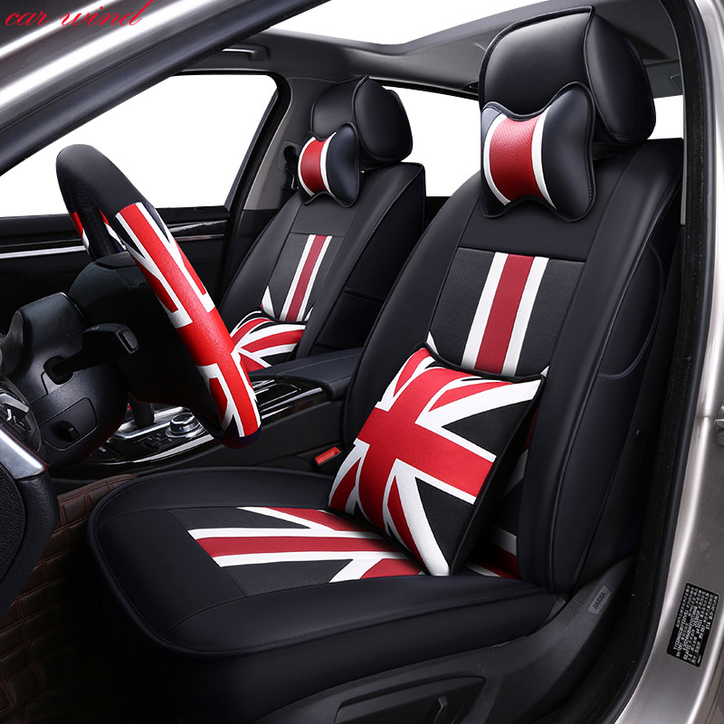 Car Wind Custom Leather set Auto car seat covers for Mercedes Benz A C W204 W205 E W211 W212 W213 S class protector accessories