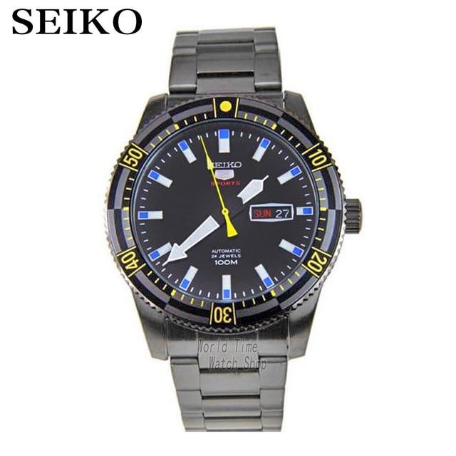 fe2cdc5dff1 SEIKO relógio de aço relógio mecânico automático relógio de mergulho à  prova d  água orange