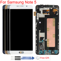 Super Amoled Display For Samsung Galaxy Note 5 LCD Digitizer With Frame Touch Screen For Samsung Note 5 N920f LCD Screen