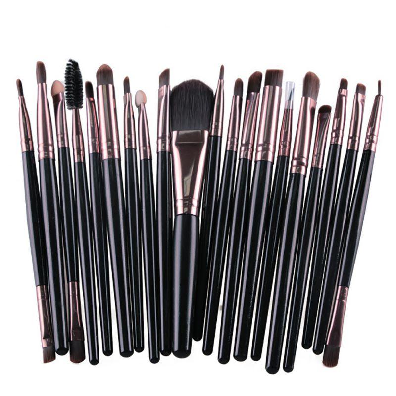Pro Makeup 20pcs Brush Set Powder Foundation Eyeshadow Eyeliner Lip Make Up Brushes Tool WY5 V2 multifunction liquid foundation brush pro powder makeup brushes set best selling make up tool 2016