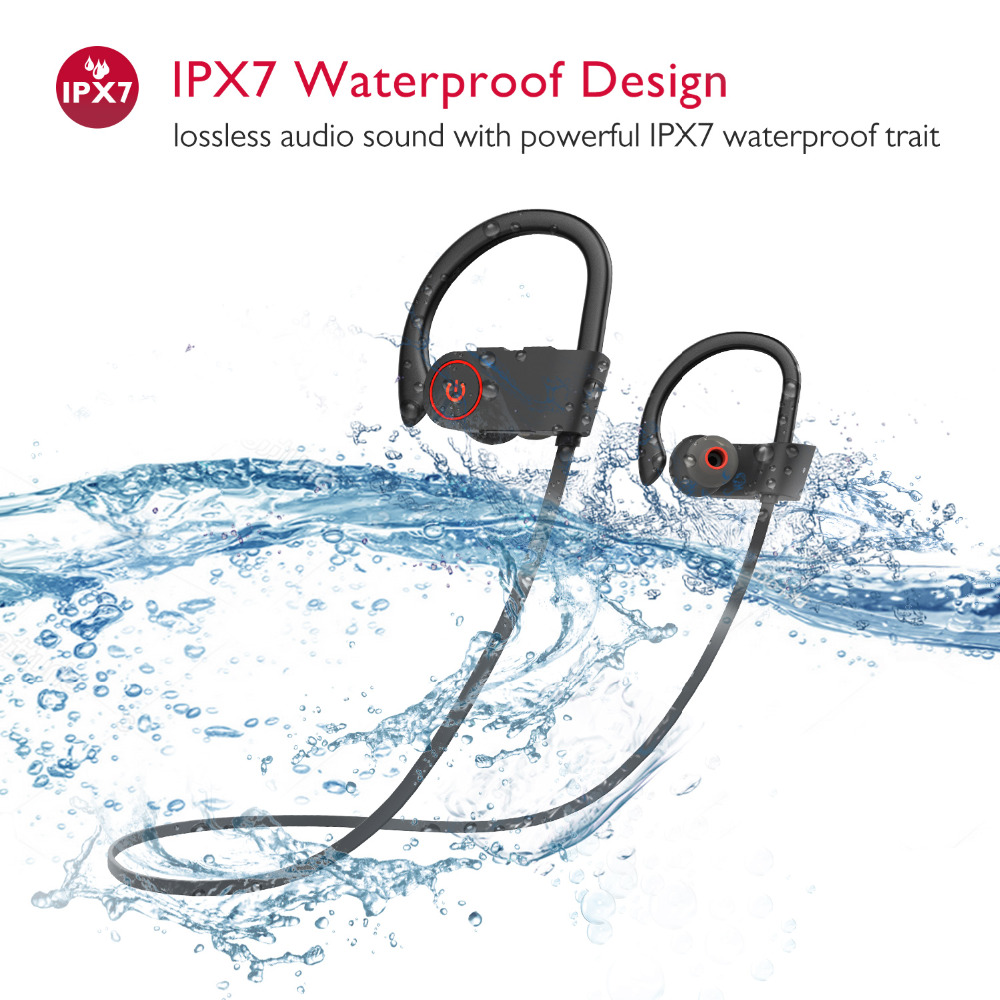 COULAX Bluetooth Headphones Sports Wireless Headset IPX7 Waterproof Earbuds In-Ear Earphones With Mic Sweatproof Headphone CX36 100% original bluetooth headset wireless headphones with mic for blackview bv6000 earbuds