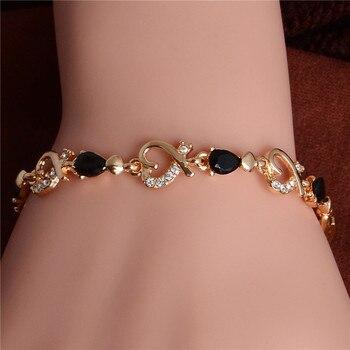 Women's Fashion Colorful Bracelets Bracelets Jewelry New Arrivals Women Jewelry Metal Color: H087