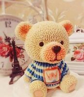 PRZY Silicone Mousse Cake Mold 3D Big Teddy Bear With W Clothes Chocolate Mold Silicone Mold Cute Teddy for Make Cake