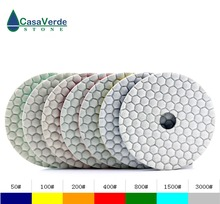 цена на Free shipping DC-AWTPP02 D100mm(4 inch) granite diamond dry polishing pads for stone