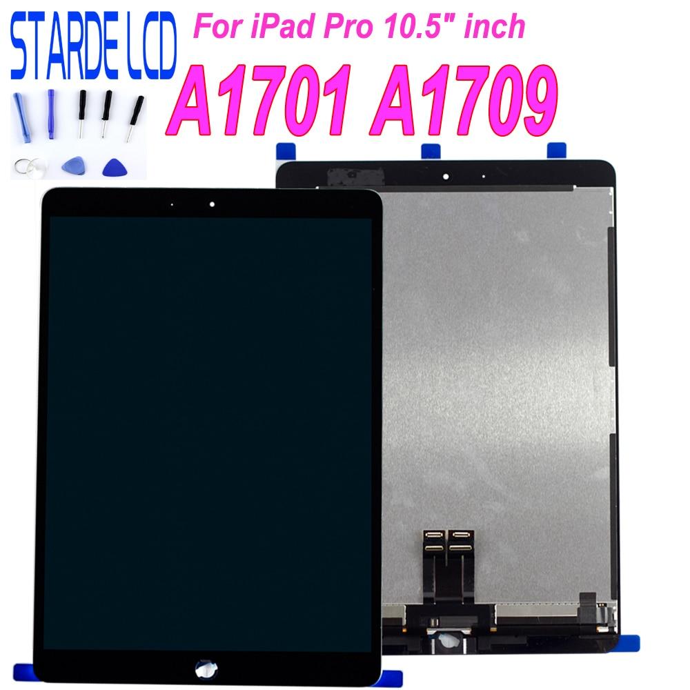 """STARDE AAA qualité remplacement LCD pour iPad Pro 10.5 A1701 A1709 LCD écran tactile numériseur assemblée 10.5 """"noir blanc"""