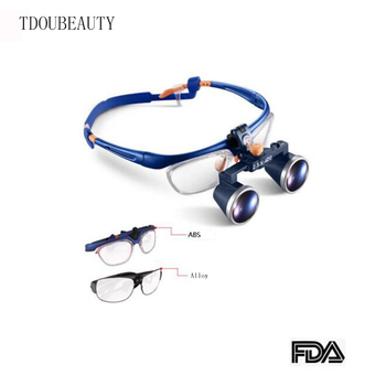 TDOUBEAUTY 3.5X420mm Binocular Galileo Frame Loupe Magnifier Glasses FD-503G-1 Free Shipping