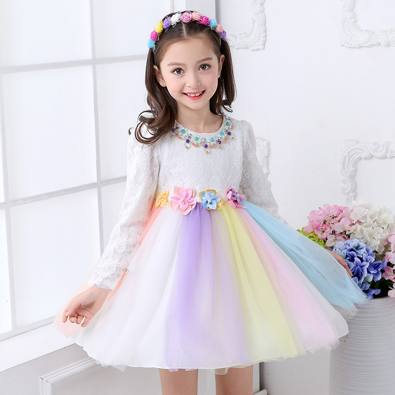 /girl Princess dress/Long sleeve/baby clothing/2018 / in spring / /new style/ children /Cotton dress girl princess 2018 spring new