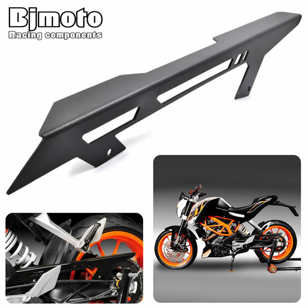 CGC-KT001 Motorcycle Part Motorbike Chain Guards Chain Cover For KTM DUKE 125 200 2011 2012 2013 2014 DUKE 390 2013-2017 for 2012 2015 ktm 125 200 390 duke motorcycle rear passenger seat cover cowl 11 12 13 14 15