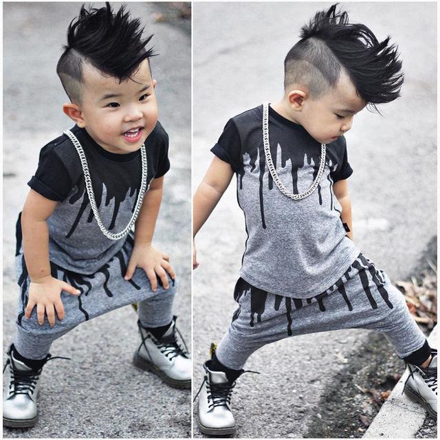 20214df9dd23 2pcs Newborn Toddler Infant Kids Baby Boy Clothes T shirt Tops Short ...