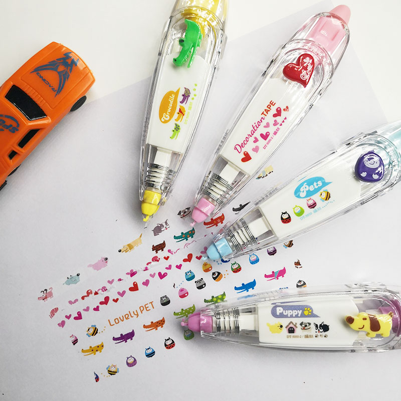 9pcs/lot Korea Creative Correction Tape Sticker Cute Cartoon Book Decorative Student Supply Novelty Office School Supplies