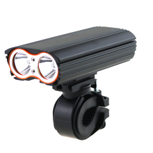 Bicycle Light Cycling Front Lights Built-in 18650 Rechargeable Battery Waterproof 2400 Lumens 4 Mode With 2PCS Brackets For Bike wosawe 2400 lumens bike bicycle light with 18650 built in batteries usb rechargeable bike light 2 xml led lamp bike accessories
