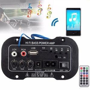 Автомобильное радио 2 din аудио Bluetooth 2,1 Hi-Fi сабвуфер стерео bluetooth бас усилитель мощности Цифровой усилитель USB TF пульт дистанционного управления