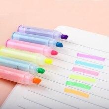 6 шт./партия маркеры, фломастер, ручка, креативный мультфильм милый кролик мини 6 палочек флуоресцентная ручка для письма школьные офисные принадлежности