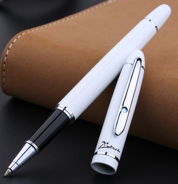 PICASSO 608 white 0.5MM inb Roller Ball Pen free shipping