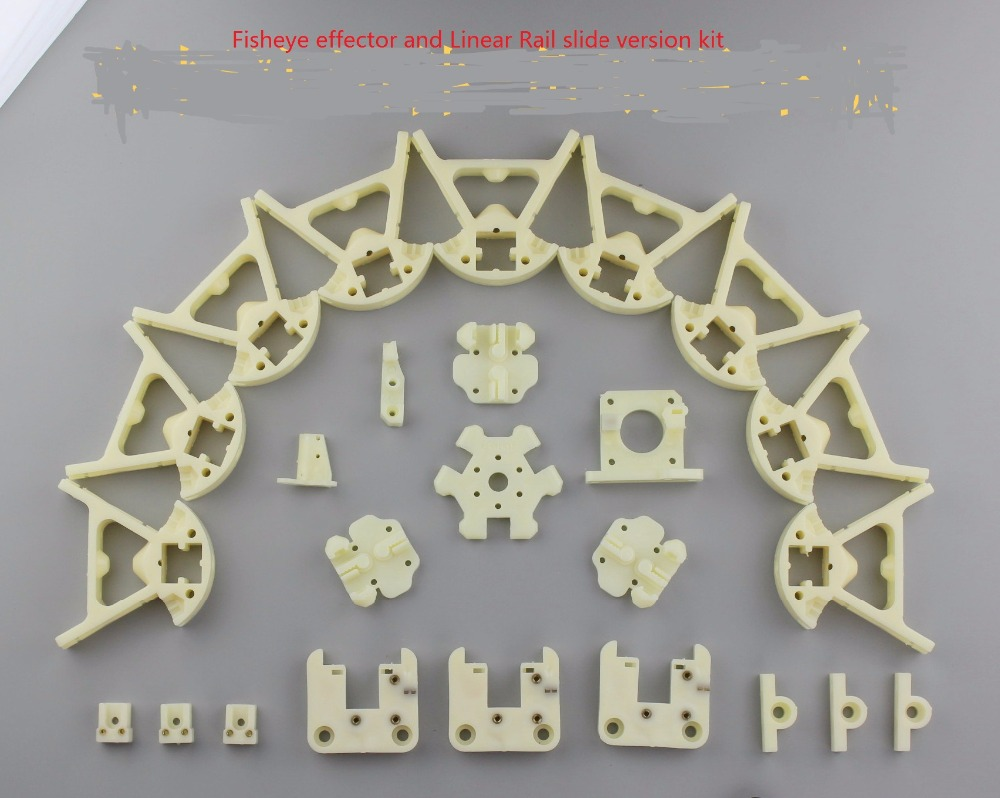 3 D printer accessory Reprap Delta Kossel mini K800 upgrade injection-molded parts Linear Rail slide/Rail Pulley version