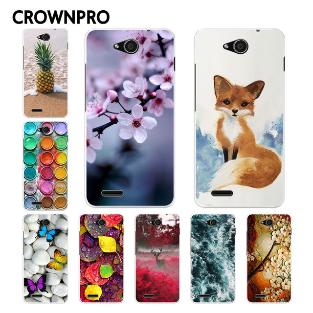 CROWNPRO ZTE Blade GF3 Case Cover Soft TPU ZTE GF3 Case Painting Back Funda ZTE Blade T320 Case Phone ZTE T320 Case GF 3 T 320