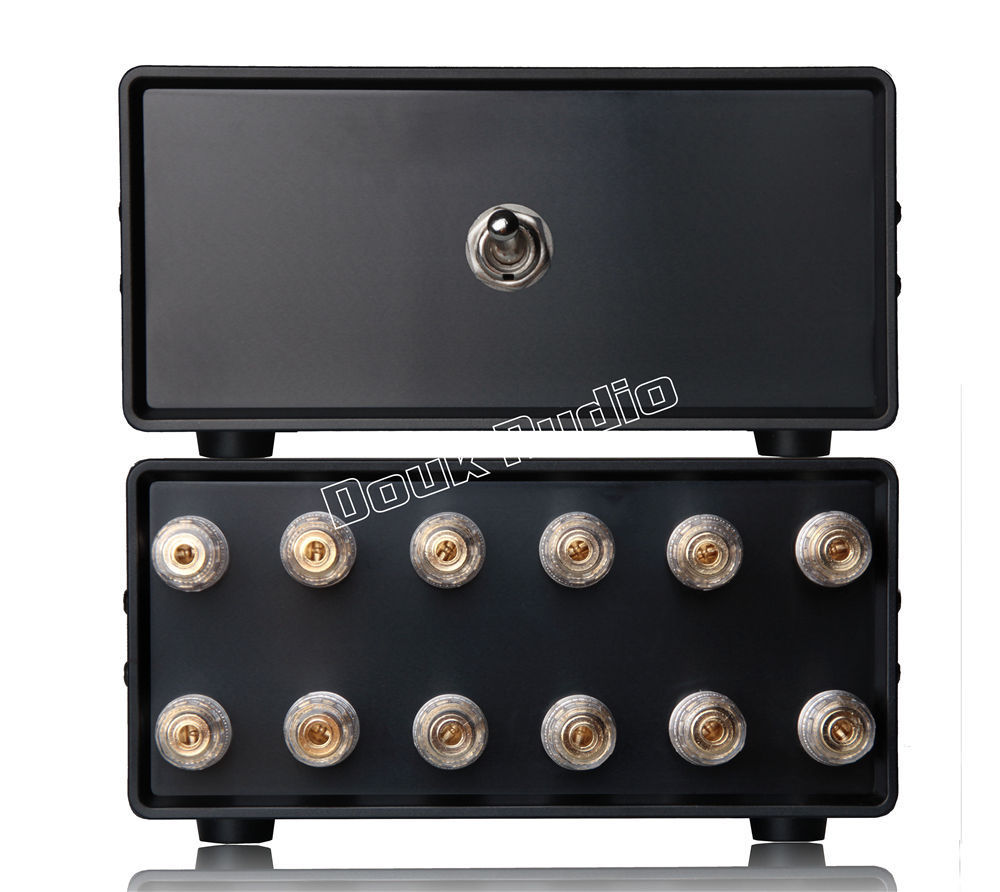 Nobsound 2 1 IN 1 2 OUT Amplifier Speaker Audio Splitter Switcher Passive Selector Free Shipping