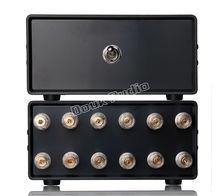 Nobsound 2 (1) em 1 (2) para fora amplificador/alto falante divisor de áudio/switcher seletor passivo frete grátis