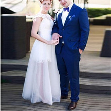 Royal Blue Mens Suits Wedding Jacket Prom Bridegroom Custom Tuxedos Slim Fit Formal Best Man Blazer 2piece Terno Masculino
