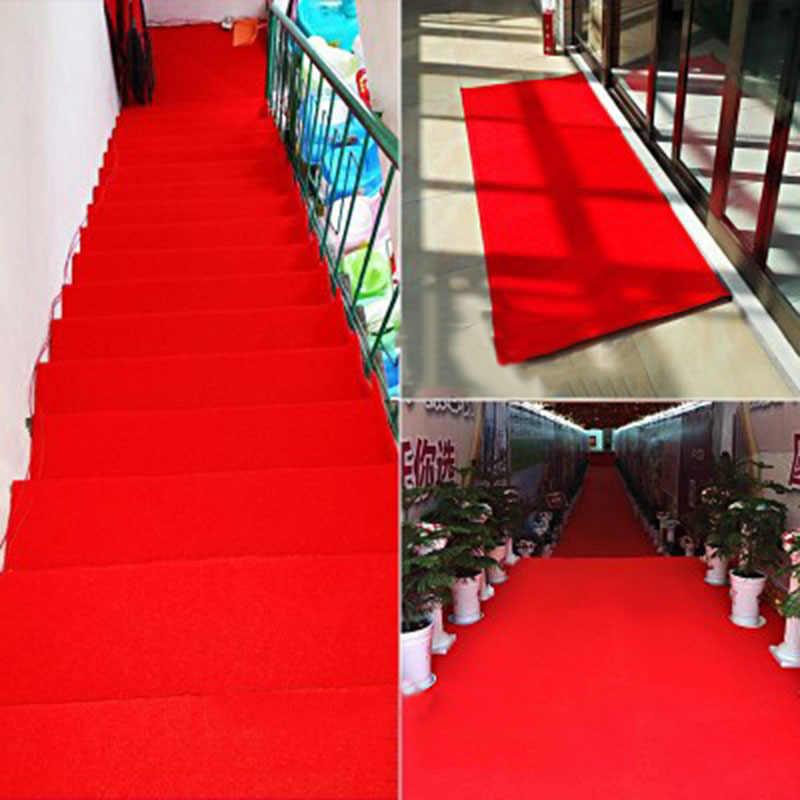 2/5 ミリメートル起毛レッドカーペットの結婚式のカスタム廊下マットカーペットレッドカーペットフォトブース結婚式パーティーイベント装飾