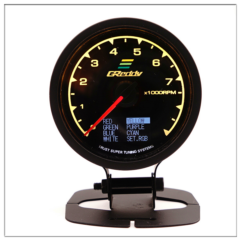 GReddi Tachometer Car for honda city civic 2001 2005 2006 2008 ek accord 7 2008 Auto Pointer gauge saat 0 7000RPM Meter 60mm