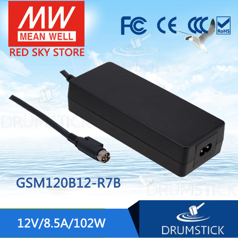 Genuine MEAN WELL GSM120B12-R7B 12V 8.5A meanwell GSM120B 12V 102W AC-DC High Reliability Medical Adaptor 1mean well original gsm160a24 r7b 24v 6 67a meanwell gsm160a 24v 160w ac dc high reliability medical adaptor