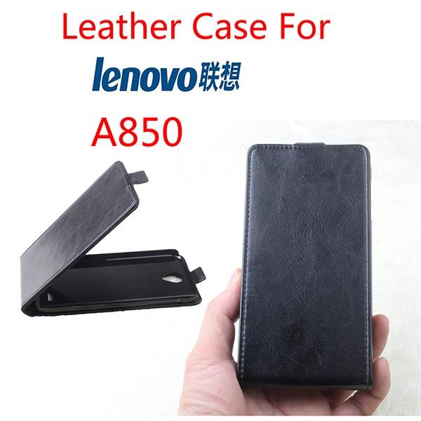 High Quality New Original Lenovo A850 Leather Case Flip Cover for Lenovo A 850 Case Phone