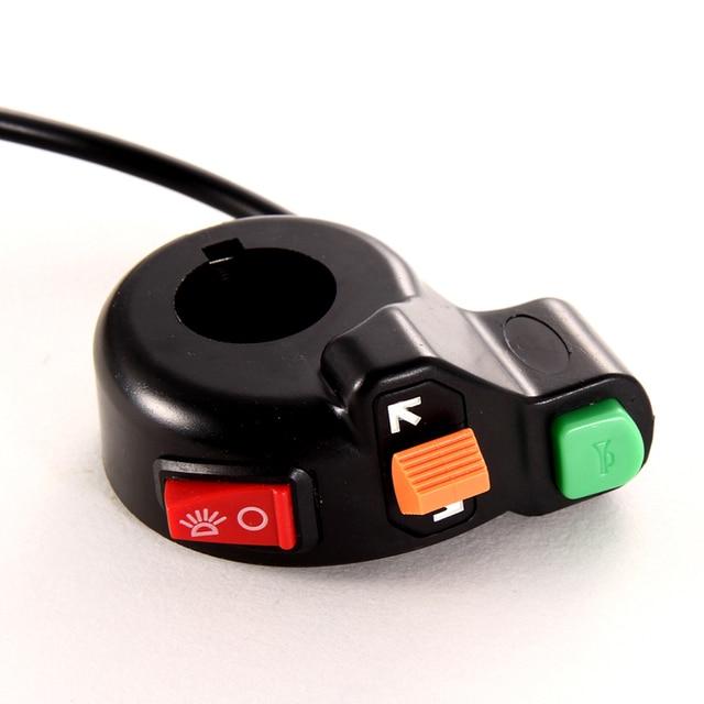 """Universal Motor ATV Skuter 7/8 """"Switch Horn Mengubah Sinyal Pada/Off Lampu 12 V Sepeda Motor Switch Motor aksesoris"""
