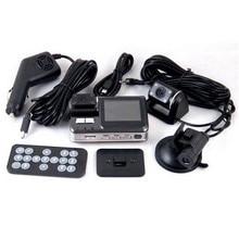 Автоматическая запись Камера для X6 HD 720 P Двойной объектив автомобиля Регистраторы видеокамера Ночное видение автомобиля Парковка зарегистрировать dvr заднего вида