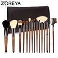 ZOREYA Brand 2017 New Arrival 15pcs Professional Cosmetic brush With High Quality PU Bag Asl Makeup Tool For Woman Beauty