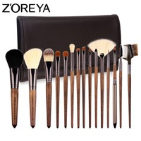 ZOREYA Brand 2017 New Arrival 15pcs Professional Cosmetic Brush With High Quality PU Bag Asl Makeup