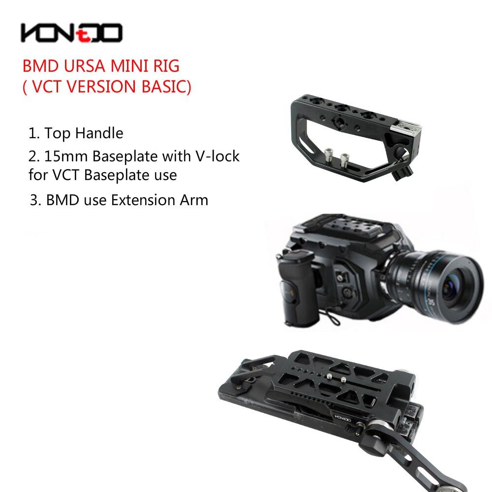 15MM BASIC URSA Mini Rig Kit Baseplate Top handle with V
