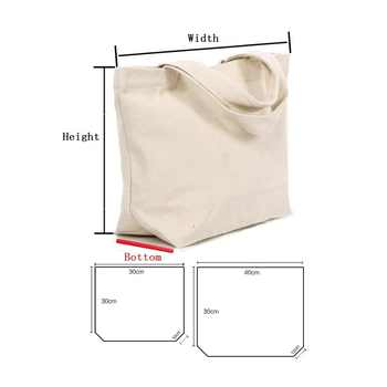 50pcs/lot 2 Size White/black Blank pattern Canvas Shopping Bags Eco Reusable Foldable Shoulder Bag Handbag Tote Cotton Tote Bag - DISCOUNT ITEM  10% OFF All Category