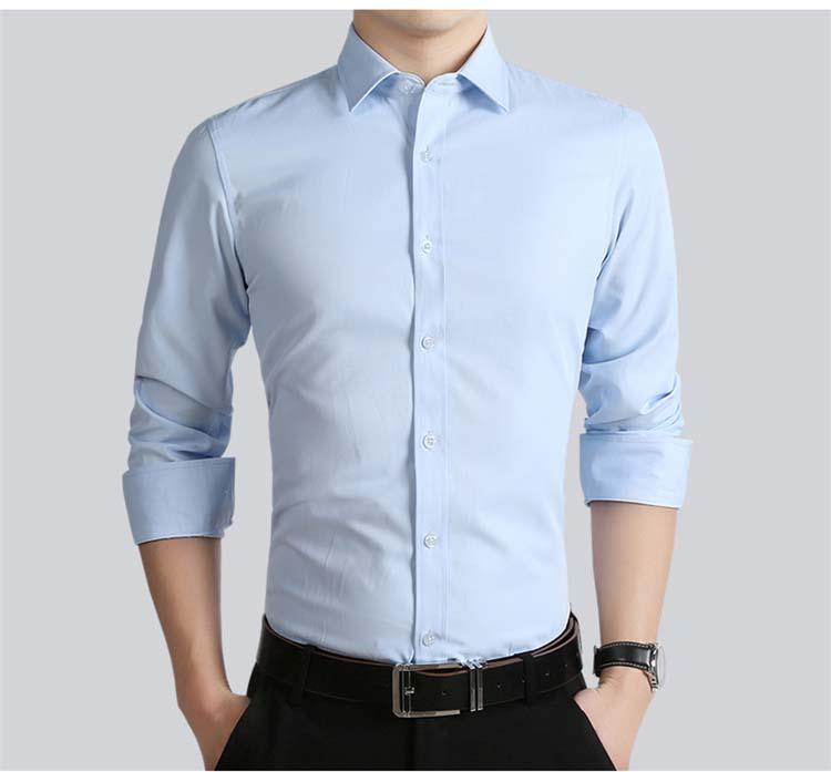 gran descuento para profesional de venta caliente envío complementario Custom made 100% dos homens do algodão camisas Formais ...