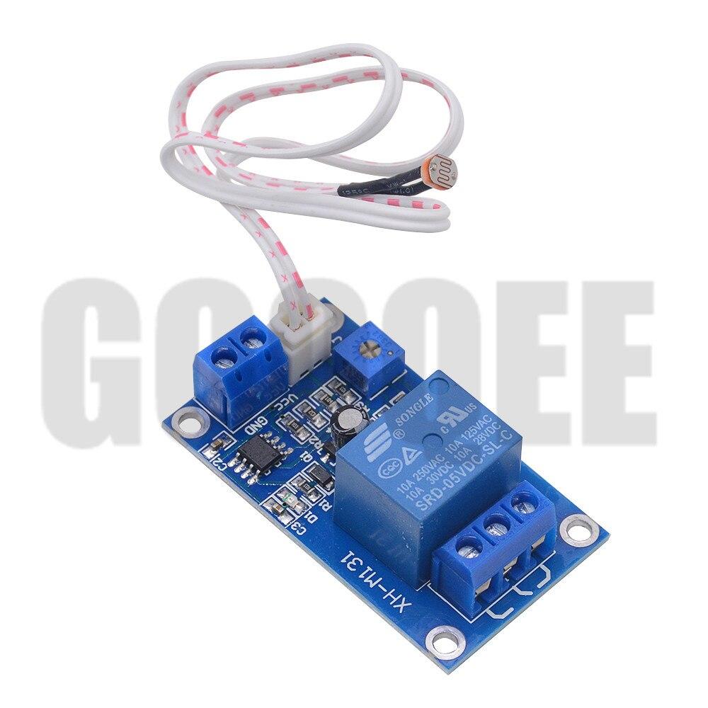 XH-M131 DC 5V 12V 10A Light Control Switch Photoresistor Relay Module Detection Sensor brightness Automatic Control Module