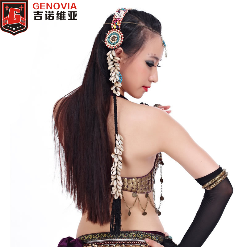 Women Dance Fairy Belly Dance Tribal Shell Braid Headrope Wig Headdress