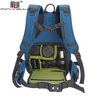 Highcapacity Digital SLR Camera Backpack waterproof Padded Photography Bag with Rain Cover for Nikon Canon Sony DSLR Camera Lens