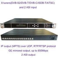 8 DVB S2 to IP/ASI encoder, ISDB T to IP/ASI output, atsc input and IP/ASI output encoder,1080P Multi Channel encoder,