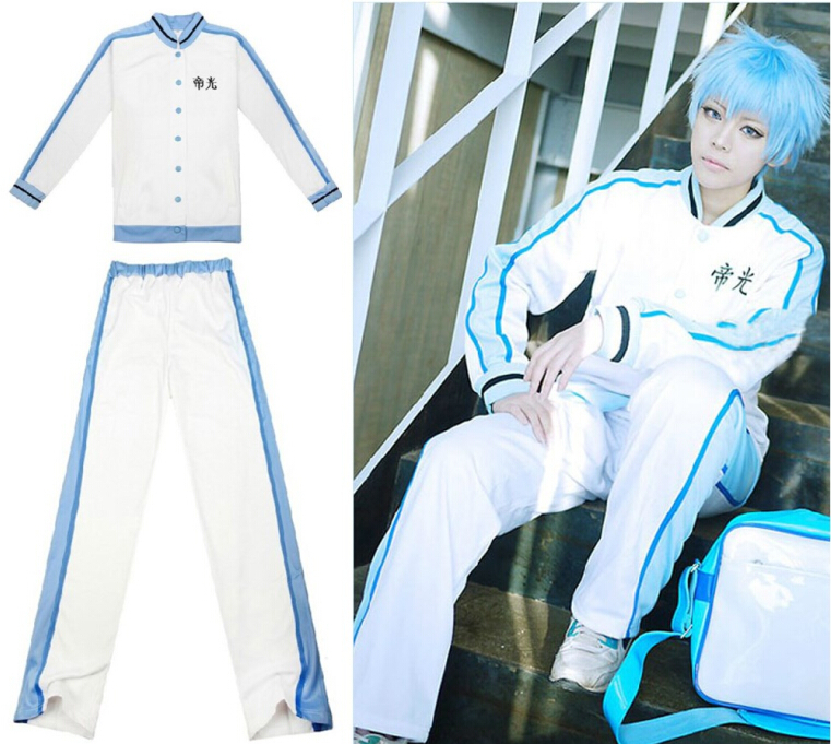 Kuroko no Basuke Teiko School Basket Ball Team Uniform Cosplay Costume Full Set Sportswear ( Jacket + Pants )