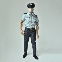 1/6 Policeman's Uniforms With Short Sleeves Socks Belt Shoes Pants for 12''Action Figures Bodies