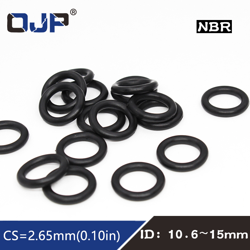 sourcingmap 10 Pcs 15mm x 2.5mm Rubber Sealing Oil Filter O Rings Gaskets