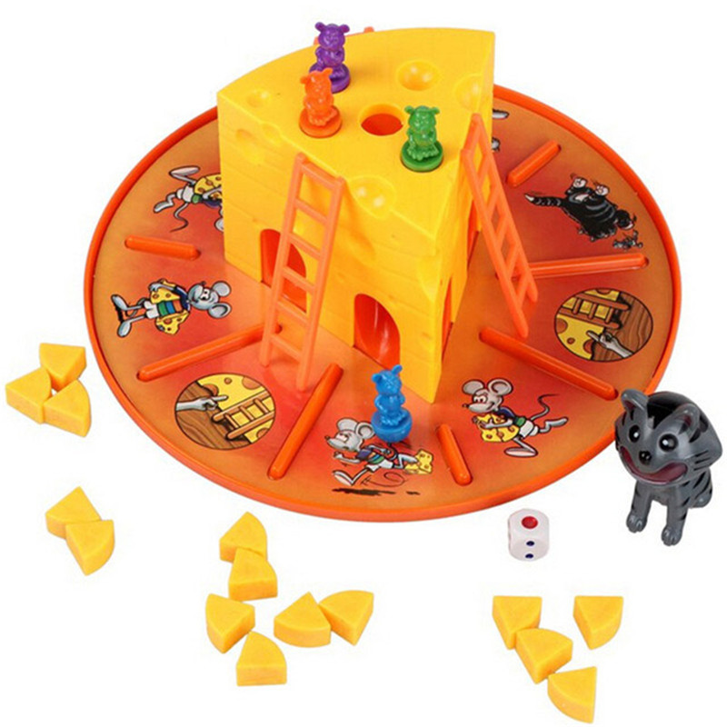 New Game Props Cat and Mouse Eat Cheese Game Family Fun Game Cheese Cake Parent-child Interaction Educational Toys Best Gifts cool educational toys dump monkey falling monkeys board game kids birthday gifts family interaction board game toys for children