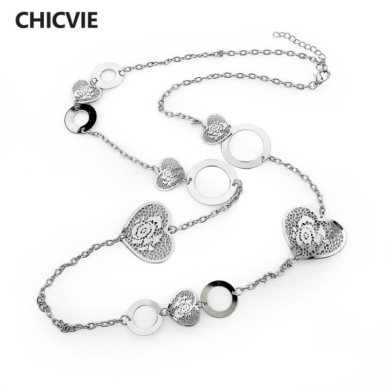 Купить женское ожерелье с длинной цепочкой toucheart дизайнерское роскошное