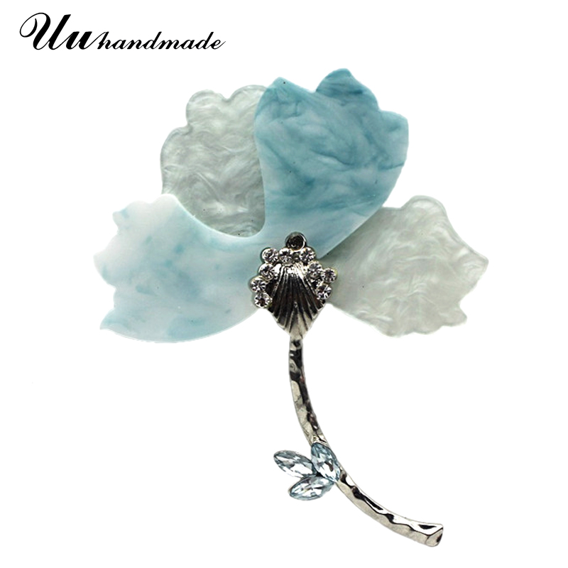 Aliexpress.com : Buy large acrylic crystal flower brooch ...
